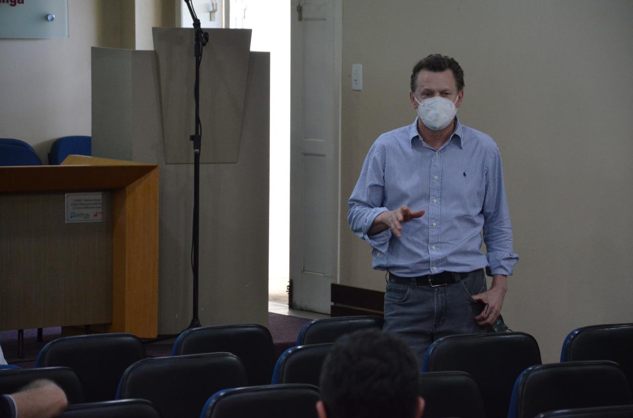 O secretario de Saúde de Criciúma e vice-presidente da Comissão Intergestores de Saúde (CIR-Carbonifera), Acélio Casagrande,  também participou da reunião