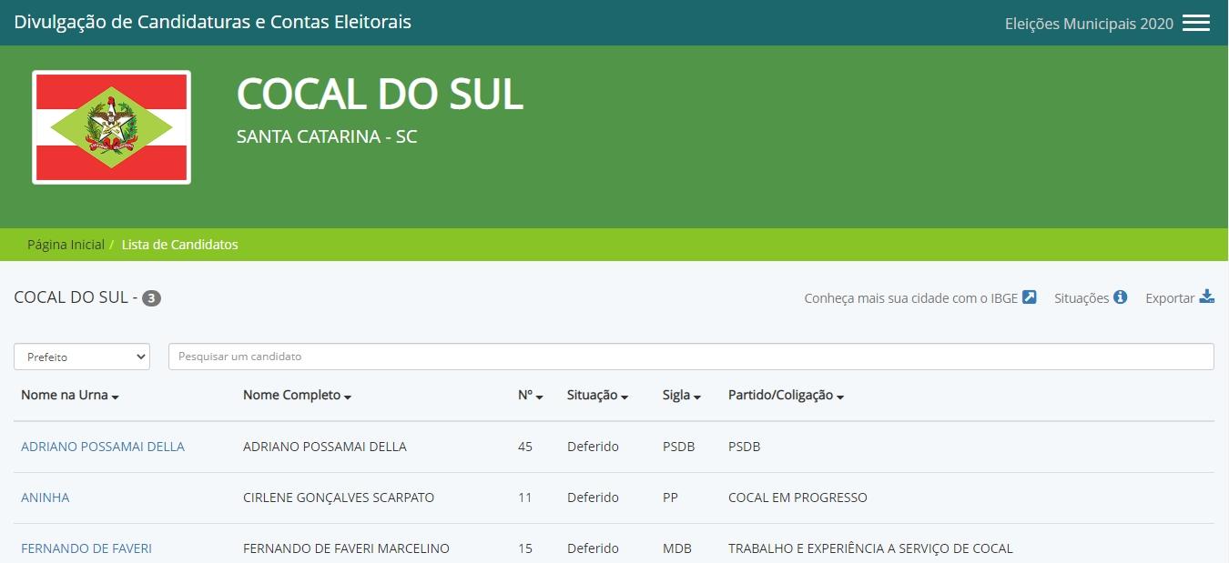 No site é possível conferir todos os dados de candidatos a prefeito, vice e vereadores de todas as cidades brasileiras.