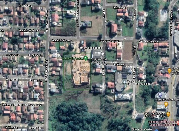 Local de possível instalação da praça esportiva e lazer. Imagem: Reprodução|GoogleMaps
