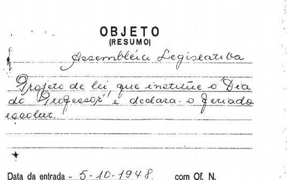 Projeto de lei de Antonieta de Barros — Foto: Reprodução Alesc/Divulgação