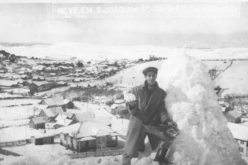 Imagem de 20 de julho de 1957 em São Joaquim — Foto: Bampi/Divulgação
