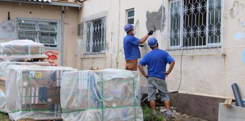 Reforma da antiga Casa de Saúde do Rio Maina avança em Criciúma