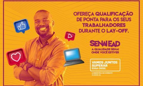 SENAI oferece cursos online para empresas com trabalhadores que estão com contratos suspensos