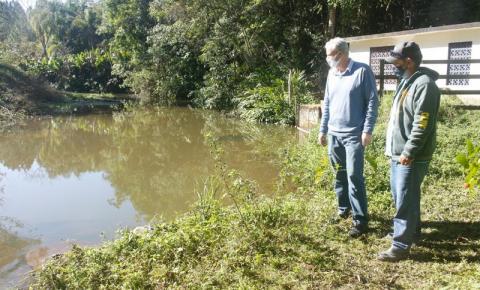Urussanga: Prefeito visita barragens para avaliar o abastecimento de água