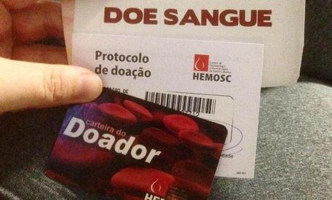 Hemosc reforça pedido de doação de sangue devido queda no estoque