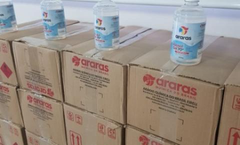 Araras Química realiza doação de álcool gel para Secretaria de Assistência Social de Cocal do Sul