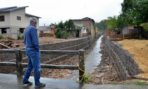 Finalizada obra de estabilização do talude do Rio Tigre no Jardim Elizabeth