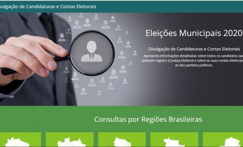 Plataforma da Justiça Eleitoral traz dados de todos os candidatos ao pleito 2020