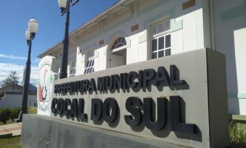 Prefeitura de Cocal do Sul adota expediente em turno único