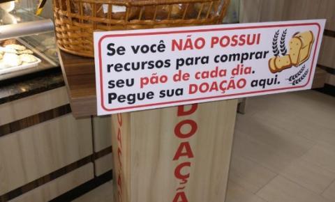 Padaria de Cocal do Sul, oferece pães gratuitamente para pessoas carentes