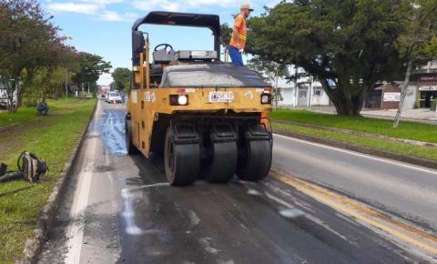 Recuperar: apesar do mal tempo, trabalhos de manutenção das rodovias foram realizados