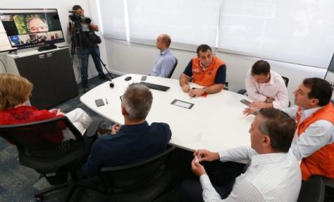 Por videoconferência, governador relata ao presidente da República ações de enfrentamento à Covid-19
