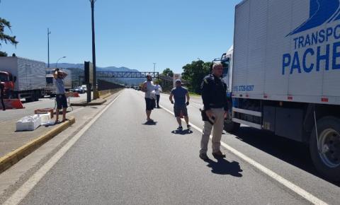 PRF continua com ações de apoio aos caminhoneiros