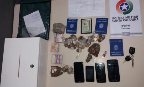 Polícia Militar prende autores de roubo em farmácia e recupera valores
