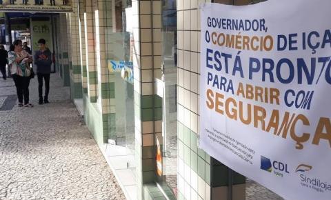 Comerciantes de Içara realizam campanha de higienização para cobrar retomada de atividade