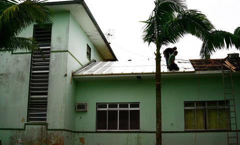 Hospital de Lauro Müller recebe reforma no telhado