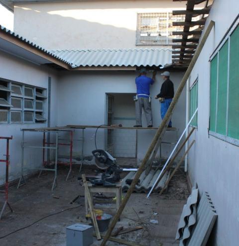 Obras no Centro de Retaguarda do Rio Maina seguem em ritmo intenso
