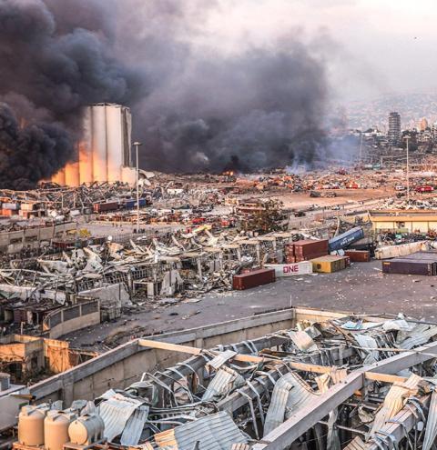 Explosões em Beirute deixam mais de 70 mortos e 3.700 feridos